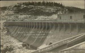 Ripogenus Dam ME c1915 Real Photo Postcard #50
