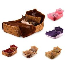 New Princess Pet Dog Cat Sofa Bed House Kitty Puppy Kennel+Pillow Blanket S-L