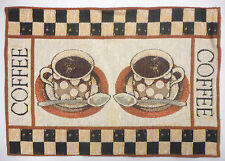 Home Concepts Coffee Mocha Java Tapestry Place Mats Placemats 4 pcs 13 x 19