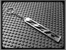 KEYRING for KAWASAKI ZZR 600 1200 - STAINLESS STEEL - HAND MADE - CHAIN LOOP FOB