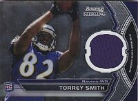 TORREY SMITH RC 2011 BOWMAN STERLING #BSR-TS JERSEY FB1951