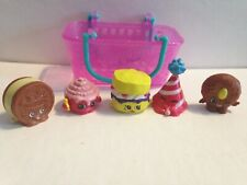 Shopkins Lot grocery toys little mini figures food deserts cookie cupcake hat