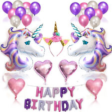 38pcs Unicorn Balloons Birthday Party Supplies for Kids Birthday Decorations New