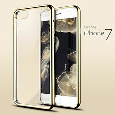 Crystal Clear Bumper TPU Gel Shockproof Back Cover for Samsung & iPhone 7 + NEW