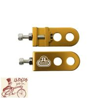 "SE RACING BIKES  3/8""--10MM AXLE GOLD BICYCLE CHAIN TENSIONERS--ONE PAIR"