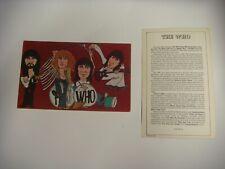 The Who (70s) Rare rock card 1979