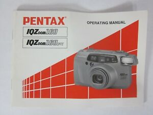 Pentax IQ Zoom 160 Date Camera Manual Only 1996 Very Good Condition