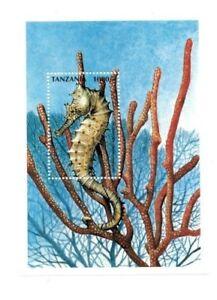 Tanzania 1997 - Marine Life - Sea Horse - Stamp Souvenir Sheet - MNH