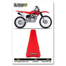 1995-1996 HONDA CRF 230 All Red FULL GRIPPER SEAT COVER BY Enjoy MFG