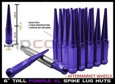 Purple Solid Steel Spike Lug Nuts XL Tall fits 2015-2020 Range Rover Land Rover