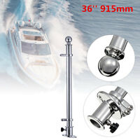 915mm 36'' 316 Stainless Steel Flag Pole With Socket Base For Marine Boat Yacht