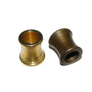 Solid Brass Shaped Sleeve Raw or Antique Finish