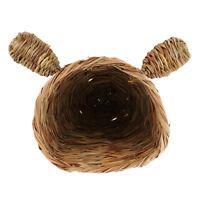 Cute Rabbit Design Straw Cage House for Bird Hamster Rat Squirrel Totoro