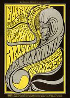 Buffalo Springfield / Steve Miller Fillmore Auditorium (1967) Concert Poster Art