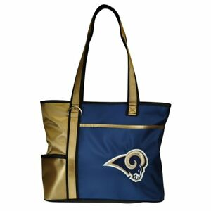 New Gameday Tote Purse Bag NFL Licensed LOS ANGELES RAMS  Embroidered Logo gift