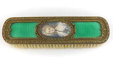 19th C.français Charles Mayer Co.miniature portrait bronze & émail brosse