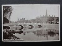 Bedfordshire: BEDFORD from River Bank - Old Postcard by W.P. Mayo, Stationers