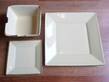 Pottery Barn Yellow Asian Square Plate Noodle Bowl Replacement BUY 1 OR MANY