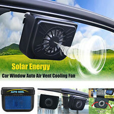 Solar Powered Car Auto Air Vent Cooling Fan Window Windshield Radiator System