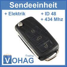 VW 3 Tasten Flip key with 434 mhz 1K0959753N & Blank & Transponder ID48