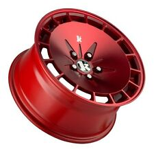 16X9 Klutch Rims KM16 4x100 +18 Red Wheels 4 Lug Civic Jetta Miata Xb Ek