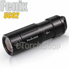 Fenix UC02 Black Cree LED USB Rechargeable Keychain Mini Flashlight Torch 10180