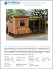 Backyard Chicken Coop Plans with Kennel Run Modern Lean-to Two-in-One, #60410ML