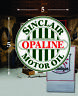"(1) 5"" X 5"" Sinclair Opaline Gas Oil Vinyl Decal Lubester Oil Pump Can Lubster"