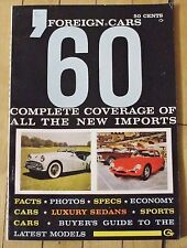 1960 Foreign Cars '60 Guide Book Import Car Facts for 1960 98 Pages