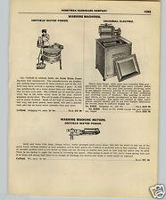 1927 PAPER AD 2 Sided Coffield Water Power Washing Machine Geyser Dexter