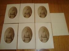 """Amusante série de 7 CPA carte photo soldat français WW1 Poilu """"57"""" sur le col"""