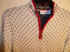 Breckenridge Ladies Holiday Pullover Sweater Size PL Color Cream NWT MSRP $76