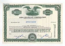 Specimen - Aero-Chatillon Corporation Stock Certificate