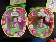 New Strawberry  Raspberry Torte and Strawberry Shortcake Figures About 4 Inches