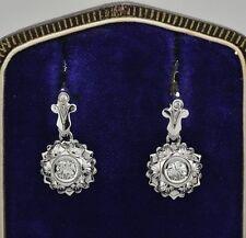 Diamond White Gold Vintage Fine Earrings