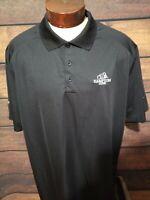 Nike Dri Fit Mens XXL 2XL Black White Short Sleeve Golf Polo Shirt NWOT