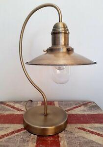 ❤ Minisun Ukai Antique Brass Finish Fishermans/Industrial Touch Table Lamp 👌
