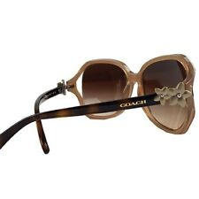46ccb1fe17 NEW Coach Milky Light Brown Matte Gold Wildflower Square Women s Sunglass  L1033