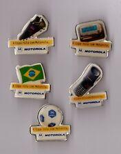 lot de 5 pin's téléphonie / Motorola - football (a copa rola com motorola)