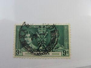 1937 Ceylon SC #276 CDS  ROYALTY used stamp
