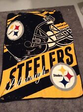 """Pittsburgh Steelers 45x60""""  Throw Blanket light weight pre-owned"""