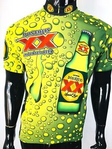 World Jerseys Dos Equis Men's Race Fit Cycling Jersey Size Large