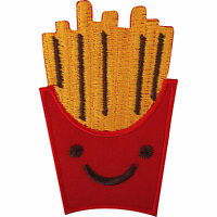 French Fries Chips Fast Food Embroidered Iron / Sew On Patch Embroidery Badge