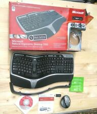 Microsoft Natural Wireless Ergonomic Desktop 7000 Keyboard Lift Mouse Dongle