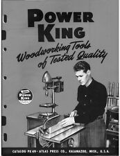 1949 Atlas Power King Woodworking Tools of Tested Quality  Instructions