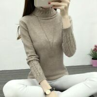 Lady Sweater Winter Knit Jumper Warm Pullover Twist Cable Tops Thick Casual Soft