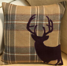Applique Stag Theme FILLED Evans Lichfield Cushion