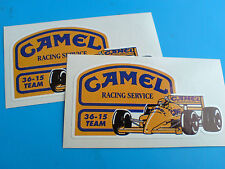 CAMEL RACING SERVICE F1  Vintage Classic Retro Stickers Decals 2 off 80mm