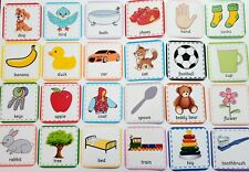 FIRST WORDS FLASH CARDS- Picture & Word - Toddler - Baby - First Learning Set