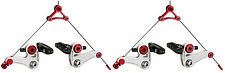 TRP Eurox Magnesium Canti Cyclocross Brake Set Carbon & Alloy pads White / Red